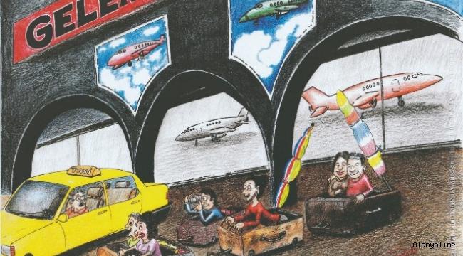 Alanya'da turizm için çizip, yarıştılar