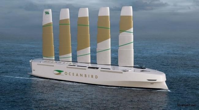 7 bin otomobil taşıma kapasitesine sahip yelkenli kargo gemisi