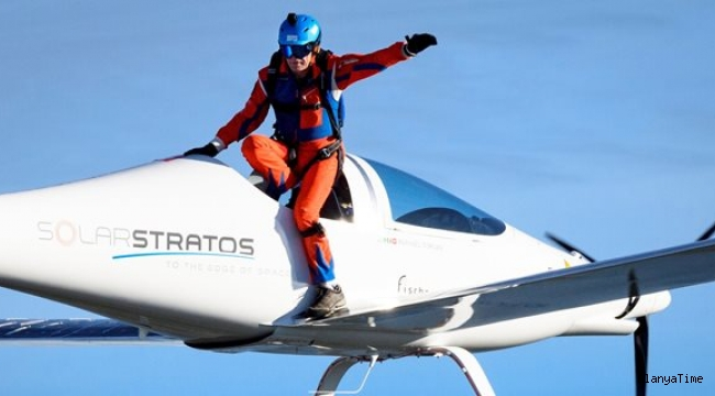 Güneş enerjili uçaktan dünyanın ilk atlayışını yaptı.